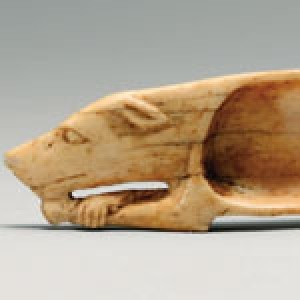 Cosmetic Spoon in Shape of Dog New Kingdom Dynasty 18, Egypt ca. 1550–1295 B.C.